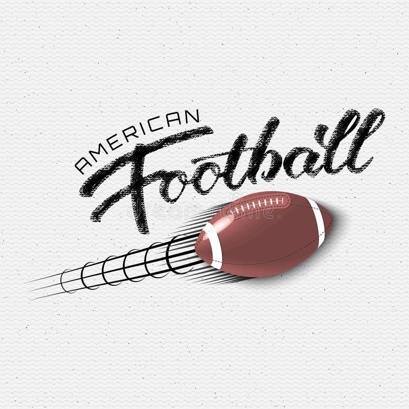 Las insignias y las etiquetas del fútbol americano para ningunos utilizan ilustración del vector