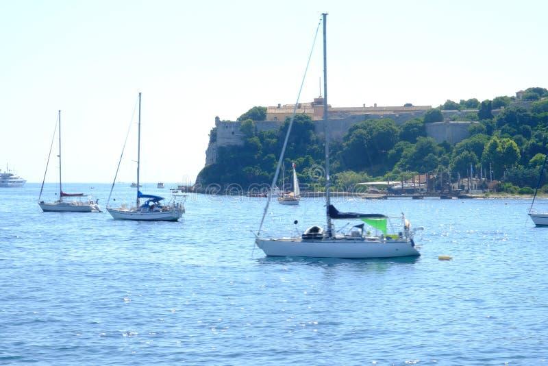 Las islas de lerins de la costa de Cannes fotos de archivo libres de regalías
