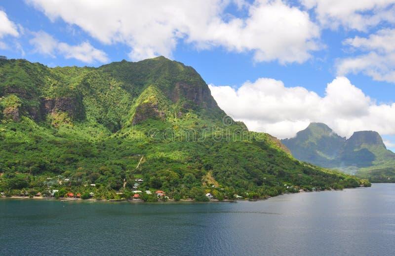 Las islas de Tahití ajardinan imágenes de archivo libres de regalías
