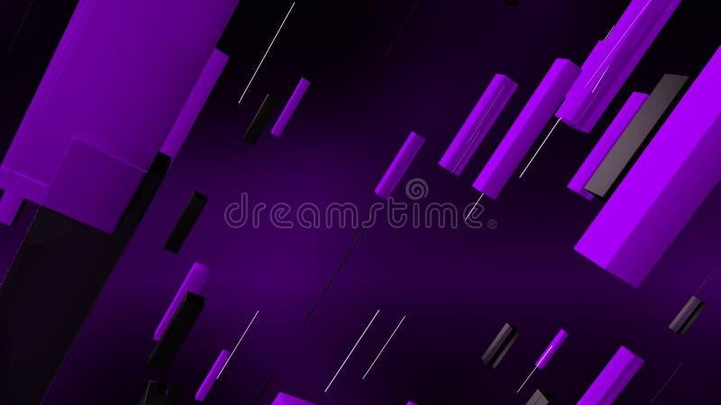 Las líneas coloridas pusieron el fondo oblicuo ilustración del vector