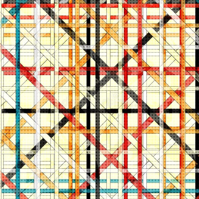 Las líneas de color abstractas hermosas en un fondo ligero vector el ejemplo stock de ilustración