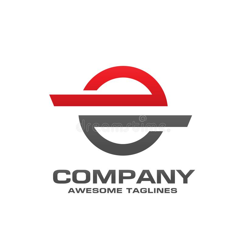 Las líneas de la tecnología del círculo de la letra e conectan el logotipo de la idea ilustración del vector