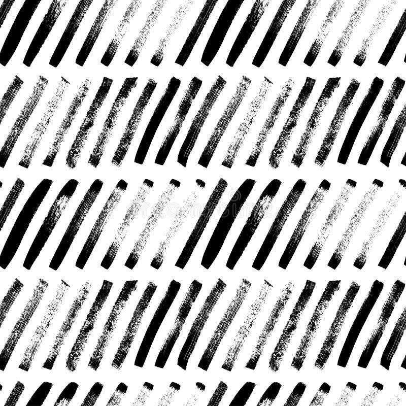 Las líneas diagonales cortas dan el modelo inconsútil exhausto Ornamento del vector para el papel de embalaje ilustración del vector
