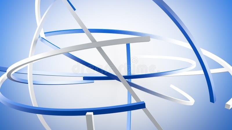 Las líneas en la órbita 3D rinden el ejemplo ilustración del vector