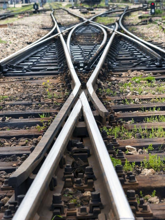 Las líneas ferroviarias fotografía de archivo