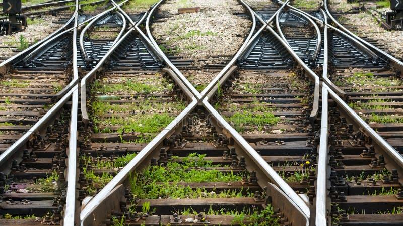Las líneas ferroviarias foto de archivo libre de regalías