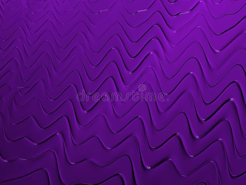 Las líneas púrpuras texturizadas extracto del fractal, 3d rinden para el cartel, el diseño y el entretenimiento Fondo para el fol libre illustration