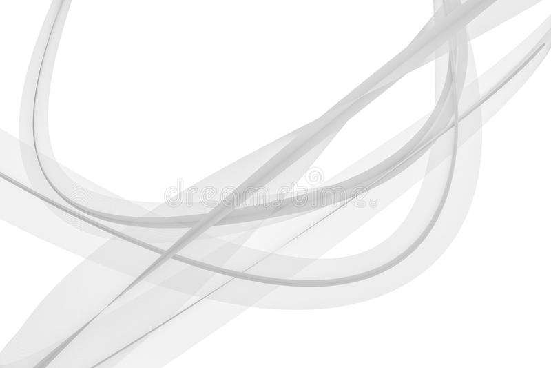 Las líneas que agitan transparentes, fondos del elemento, representación 3d libre illustration