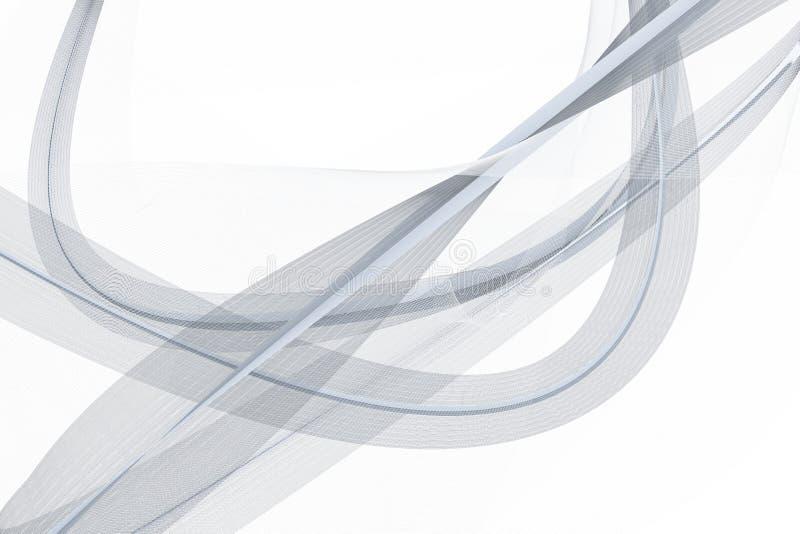 Las líneas que agitan transparentes, fondos del elemento, representación 3d ilustración del vector
