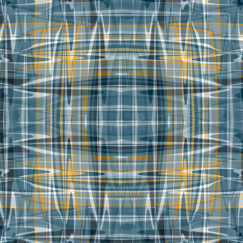Las líneas y las ondas abstractas coloreadas hermosas en un fondo oscuro vector el ejemplo stock de ilustración