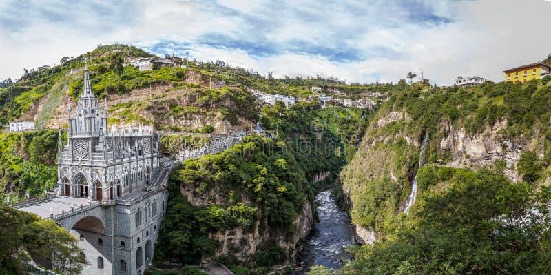 Las Lajas圣所-伊皮亚莱斯,哥伦比亚 图库摄影