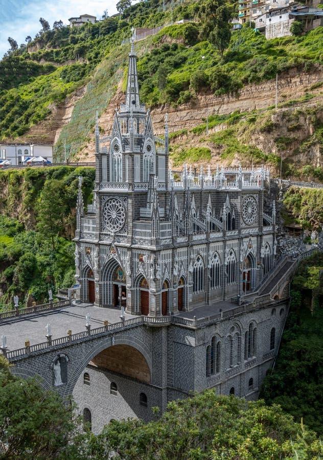 Las Lajas圣所-伊皮亚莱斯,哥伦比亚 库存图片