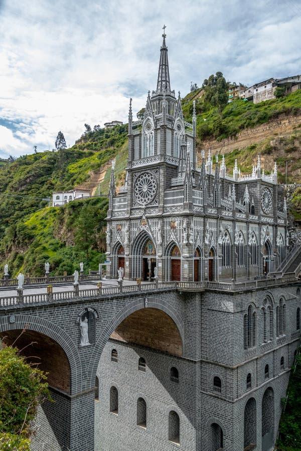 Las Lajas Sanctuary - Ipiales, Colombia. Las Lajas Sanctuary in Ipiales, Colombia stock photos