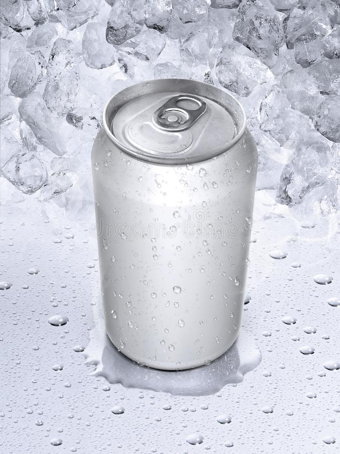 las latas en el agua caen el fondo foto de archivo libre de regalías