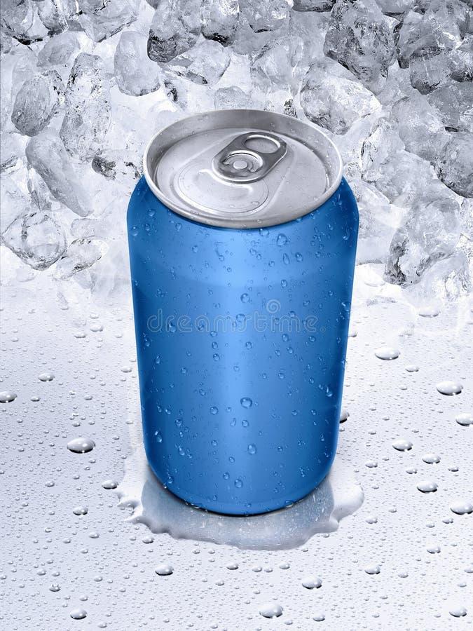 las latas en el agua caen el fondo fotografía de archivo libre de regalías