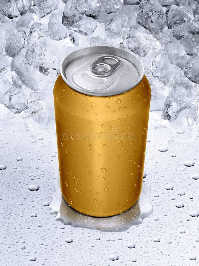 las latas en el agua caen el fondo imagenes de archivo
