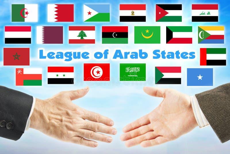 LAS, League of Arab States. Union of Arabian countries stock photos