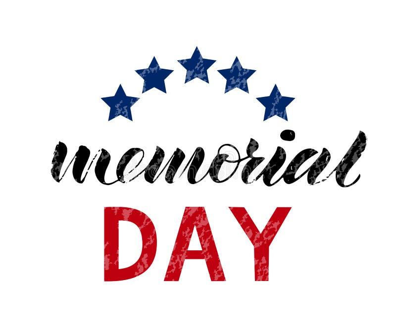 Las letras del honor del Memorial Day y recuerdan stock de ilustración