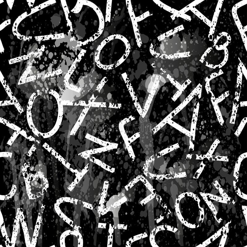 Download Las Letras Monocromáticas En Un Grunge Negro De La Pintada Del Fondo Texturizan El Ejemplo Del Vector Ilustración del Vector - Ilustración de ilustraciones, color: 64205332