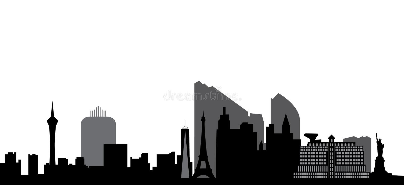 las linia horyzontu Vegas ilustracja wektor