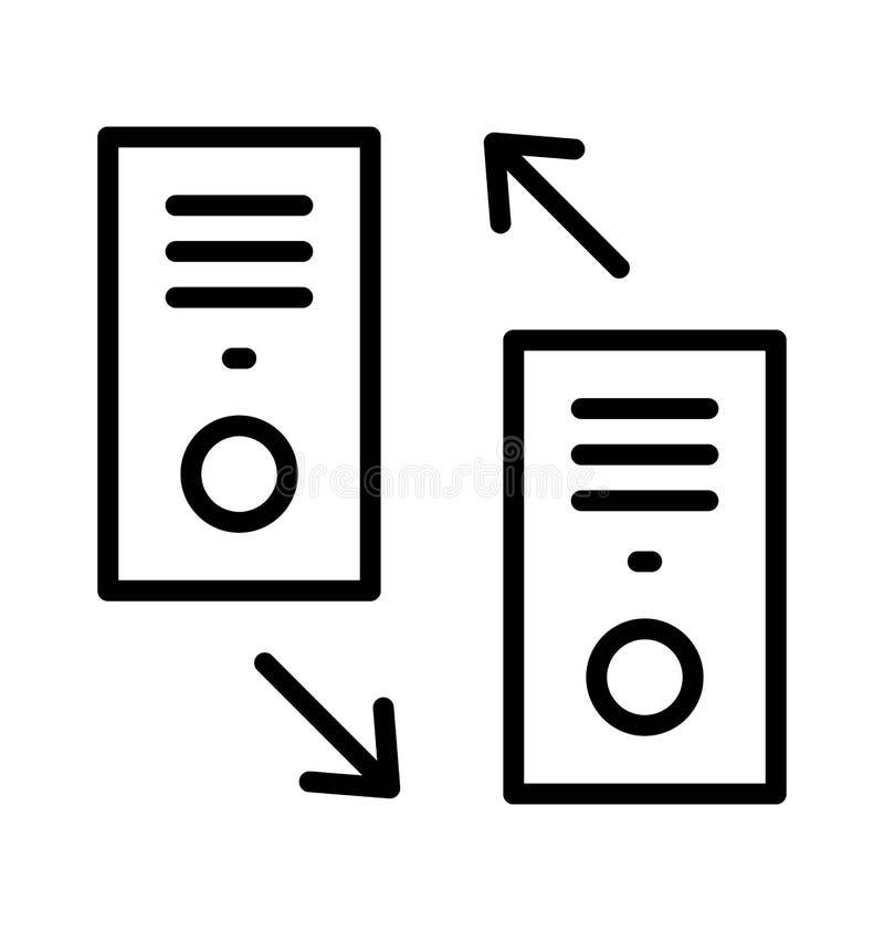 Las llamadas marcadas y recibidas aislaron el icono del vector que puede modificarse o corregir fácilmente stock de ilustración