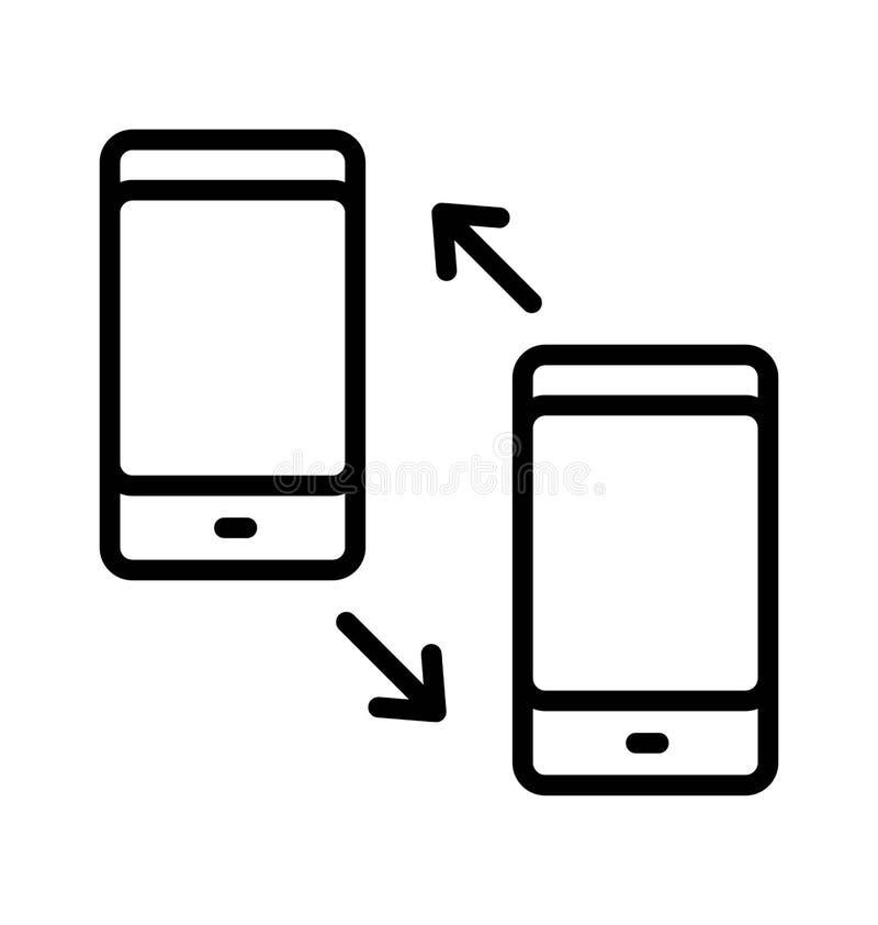 Las llamadas marcadas y recibidas aislaron el icono del vector que puede modificarse o corregir f?cilmente libre illustration