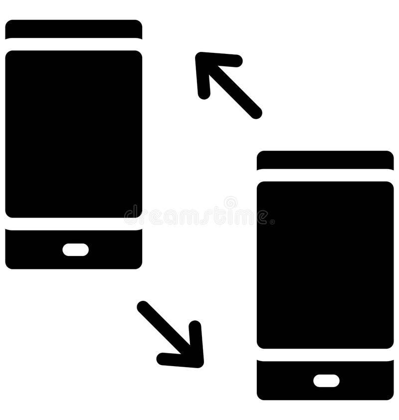 Las llamadas marcadas y recibidas aislaron el icono del vector que puede modificarse o corregir f?cilmente stock de ilustración