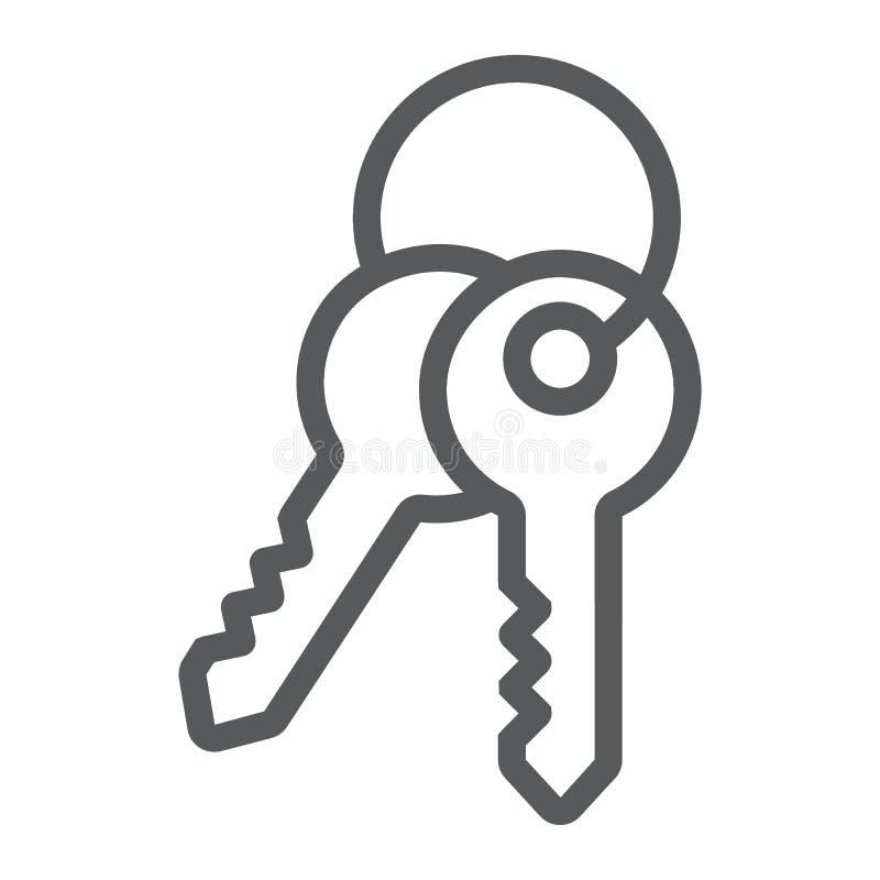 Las llaves alinean el icono, la cerradura y el hogar, muestra del acceso ilustración del vector