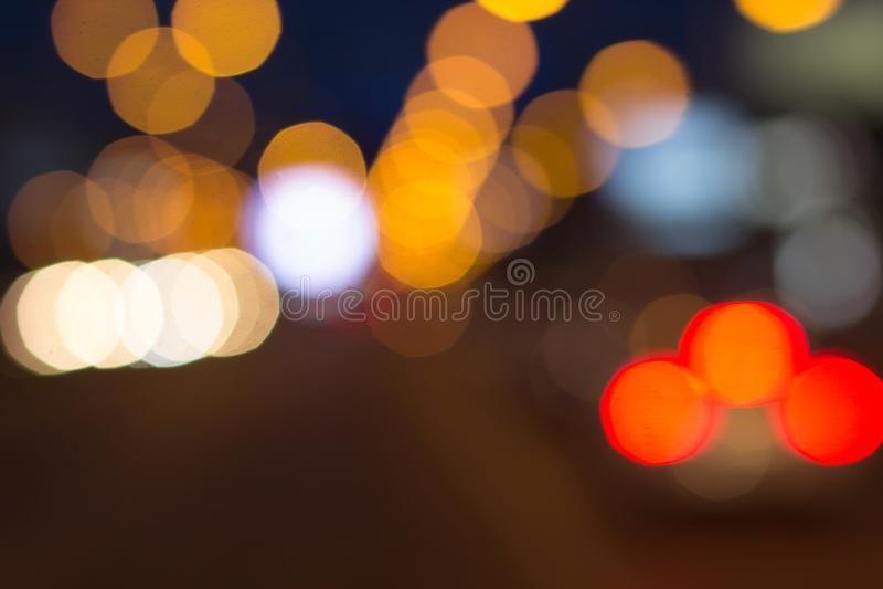 Las luces borrosas con el bokeh efectúan el fondo, falta de definición abstracta fotografía de archivo