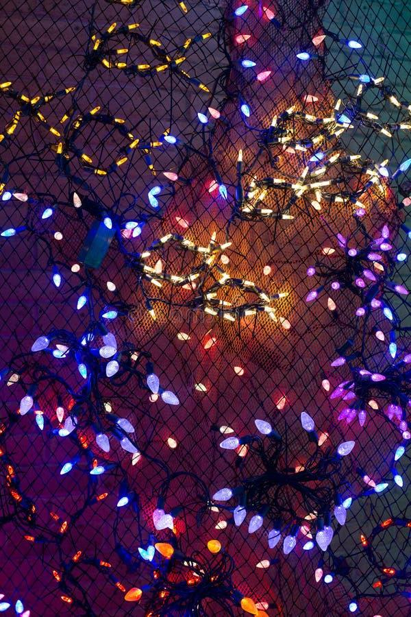 Las luces de la Navidad, pueden utilizar como fondo fotos de archivo libres de regalías