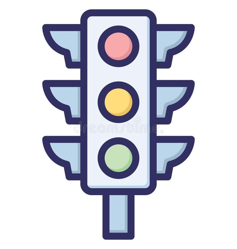 Las luces de señal, semáforos aislaron el icono del vector que puede ser modificado o ser corregido fácilmente stock de ilustración