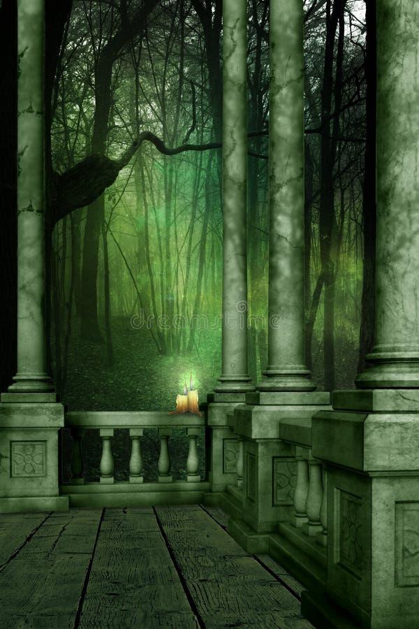 Las maderas verdes ilustración del vector