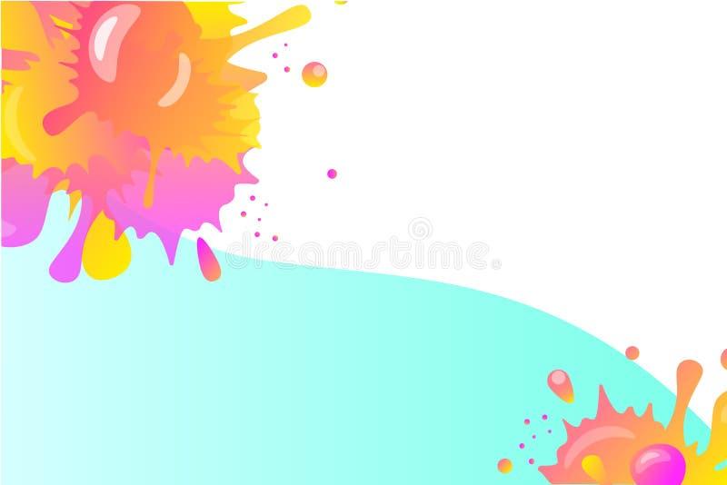 Las manchas blancas /negras y salpican El fondo con las manchas blancas /negras divertidas, brillantes, multicoloras, salpica y p libre illustration