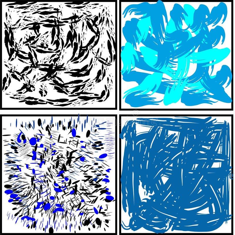 las manchas borran una variedad de fondos y de substratos stock de ilustración