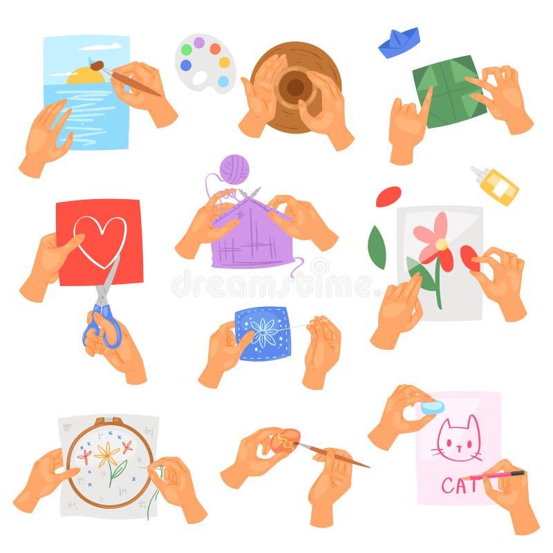Las manos de la afición vector instrucciones de manos que se lavan o de limpiezas con el jabón y la espuma en sistema del anti-ba ilustración del vector