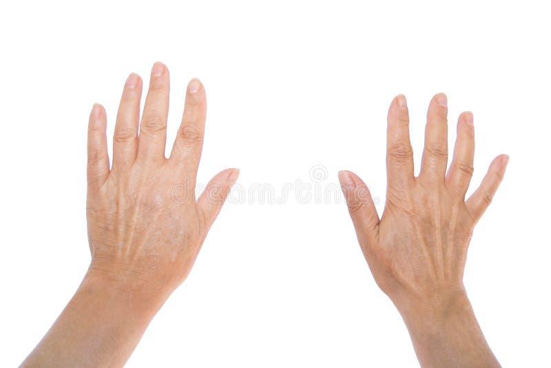 Las manos se abren imagen de archivo