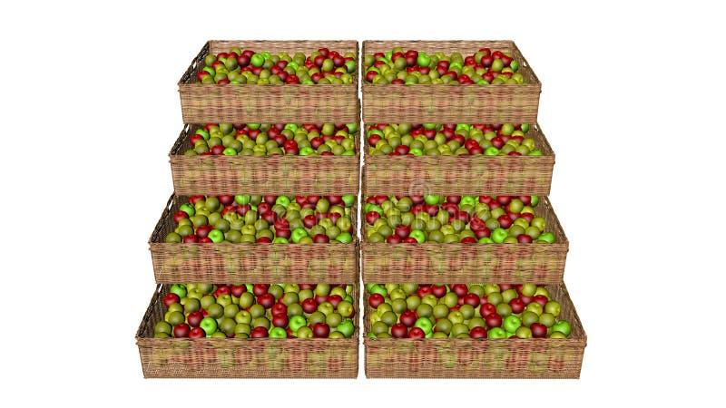 Las manzanas en la cesta foto de archivo libre de regalías