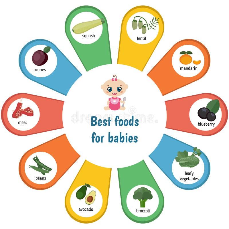 Las mejores comidas para los bebés libre illustration