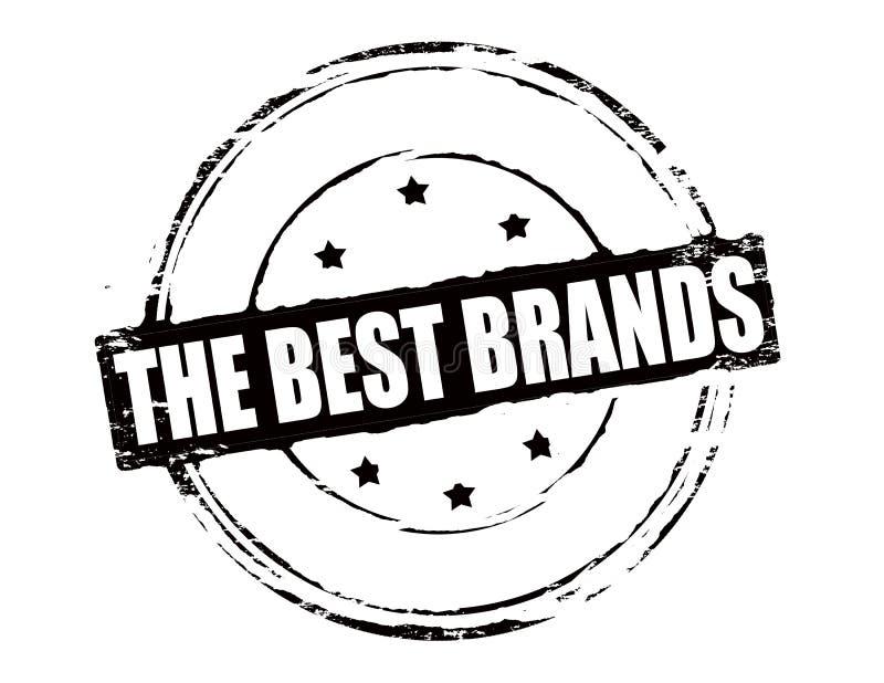 Las mejores marcas stock de ilustración