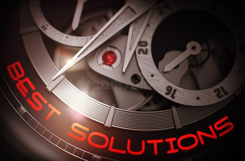 Las mejores soluciones en mecanismo del reloj de bolsillo de la moda 3d ilustración del vector