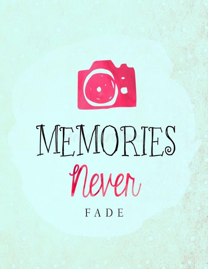 Las memorias nunca se descoloran libre illustration