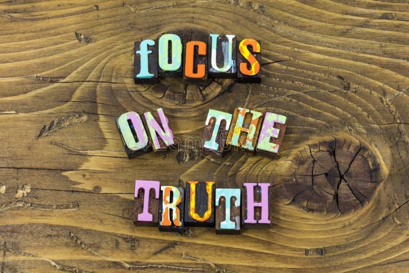 Las mentiras de los valores de los hechos de la honradez de la verdad del foco confían en la impresión de la tipografía libre illustration