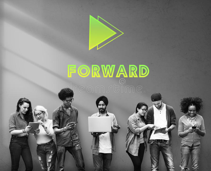 Las metas apuntan concepto delantero de la misión del éxito de la positividad fotografía de archivo libre de regalías