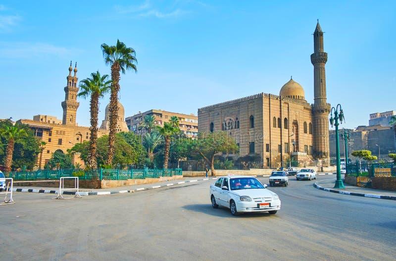 Las mezquitas de El Cairo viejo, Egipto fotografía de archivo libre de regalías