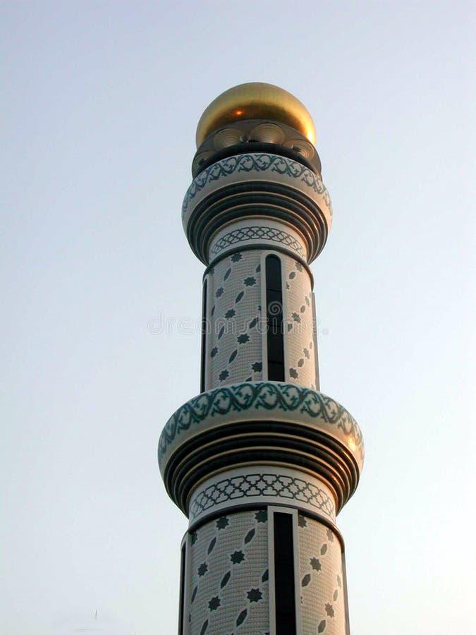 Las mezquitas de oro en Brunei foto de archivo libre de regalías