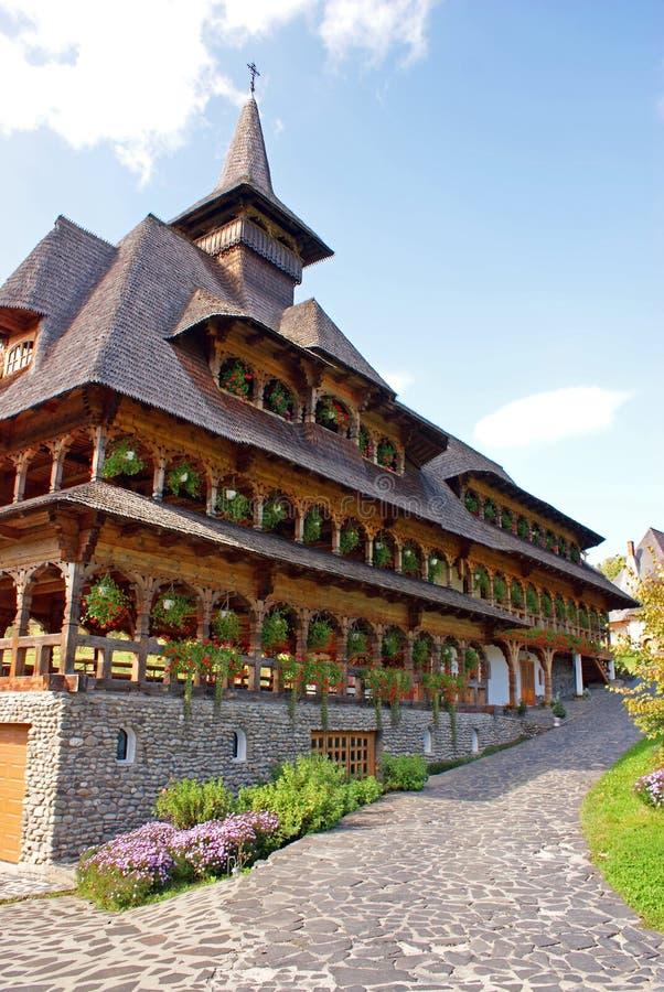 Las monjas contienen en el monasterio del barsana imagen de archivo libre de regalías