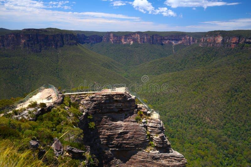 Las montañas azules en Australia imágenes de archivo libres de regalías