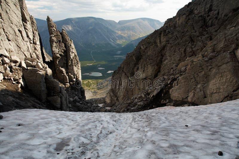 Las montañas de Khibiny foto de archivo libre de regalías