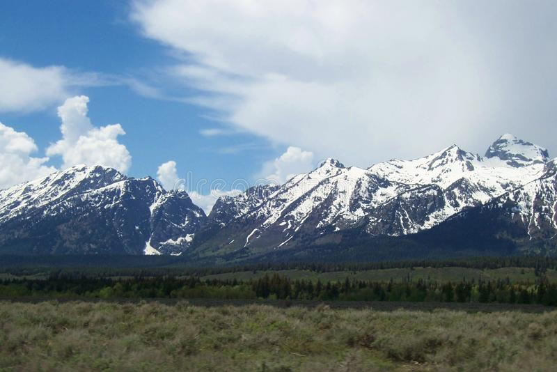 Las montañas de Teton cerca de Jackson Hole Wyoming fotos de archivo libres de regalías