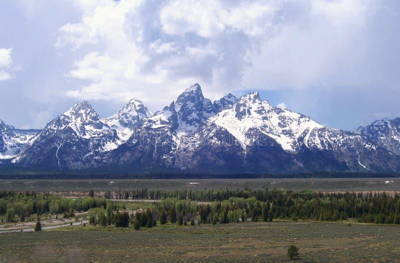 Las montañas de Teton cerca de Jackson Hole Wyoming imágenes de archivo libres de regalías